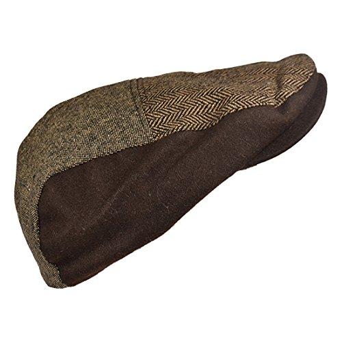 Patchwork Ivy Hat (Landana Headscarves Ivy Scally Cap Patchwork Tweed Driver Hat)
