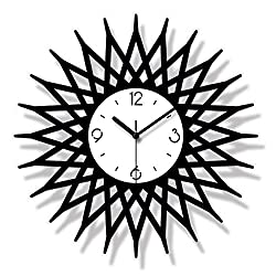 yaoyao Wall Clock Kaleidoscope Design Acrylic Mute Minimalist Modern Decorative Quartz Round Preferred Material, Fine Workmanship Beautiful and Durable 12 Inch