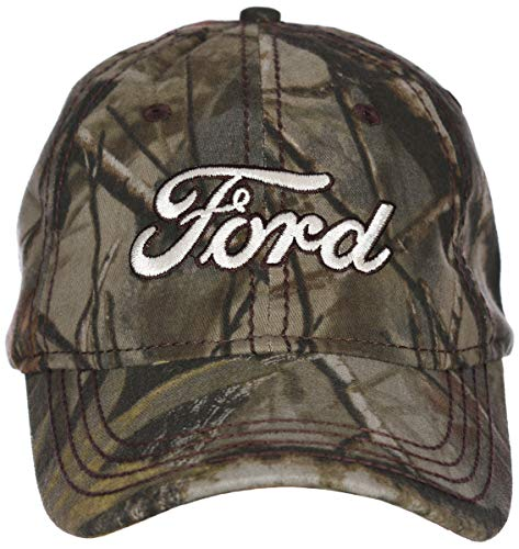 (H3 Headwear Ford Logo with Realtree Hardwoods Camouflage Adjustable Cap)