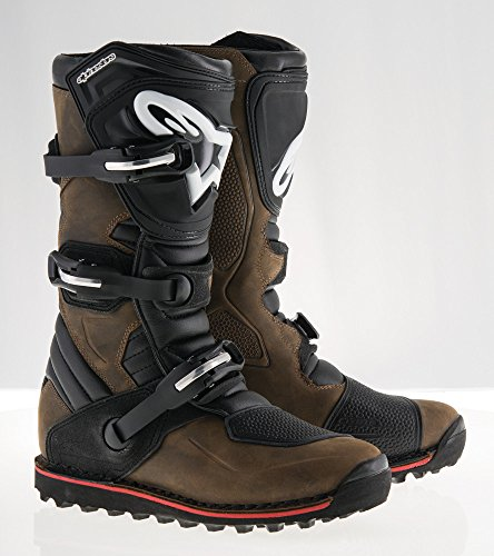 6 Off Road Mens Boots - Alpinestars Tech T Men's Off-Road Motorcycle Boots - Brown / 6