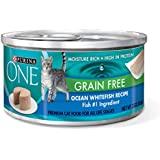Purina ONE Grain-Free Classic Pate Ocean Whitefish Wet Cat Food - Twenty-Four (24) 3 oz. Pull-Top Cans