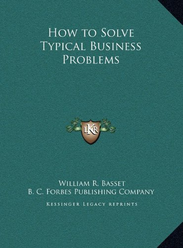 How to Solve Typical Business Problems pdf