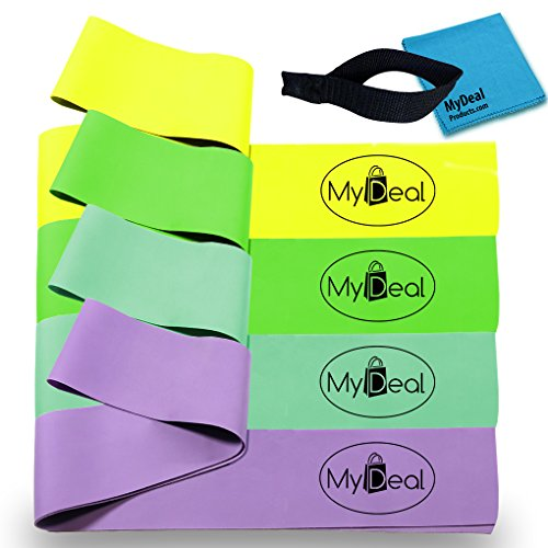 MyDeal SportGYM Fitness Stretch Band 6pc Portable Exercise S
