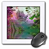 3dRose LLC 8 x 8 x 0.25 Inches Mouse Pad, A Fantasy Castle in Pretty Pastels, Pinks, and Lavender (mp_11641_1)