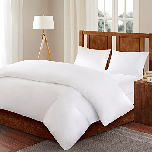 Sleep Philosophy 3M Scotchgard Comforter Protector Duvet Cover with Zipper Flap - Waterproof - Hypoallergenic - Protect Against Dust Mites, Allergens, and Animal Stains - Twin - Bed Guardian by