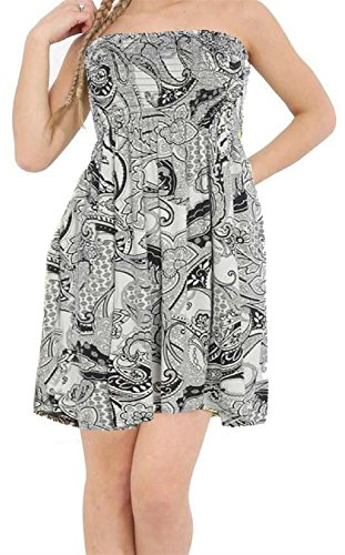 22 Sheering Paisely Click New Black Plus Strapless Top Bandeau Womens Size Printed Selfie Dress 4 Boobtube T0ZTFqOw