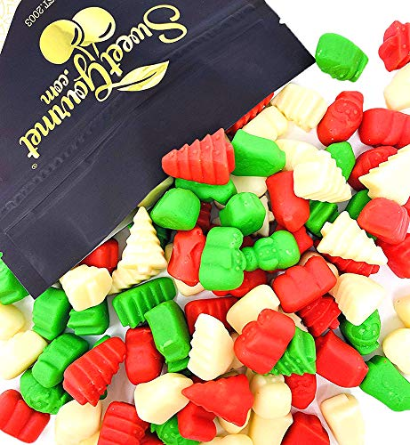 SweetGourmet Holiday Mello Cremes   Red Green White Christmas Candy Mix   2 Pounds