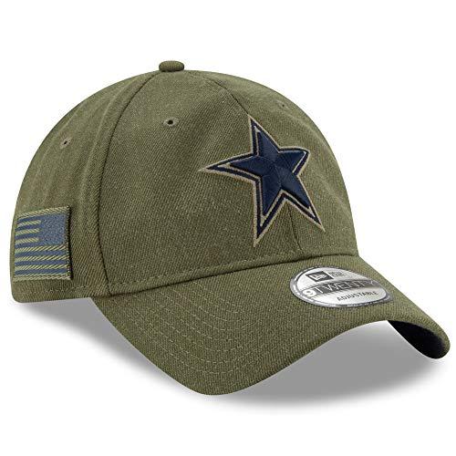 (New Era Authentic Dallas Cowboys 2018 Salute to Service Sideline 9TWENTY Adjustable Hat - Olive: OSFM)