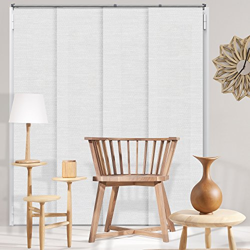 Chicology Adjustable Sliding Panels Cut to Length Vertical Blinds, Up to Up to 80