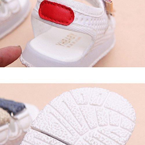 LED Sandalias niños pequeños luz de los zapatos de playa intermitente Juleya blanco