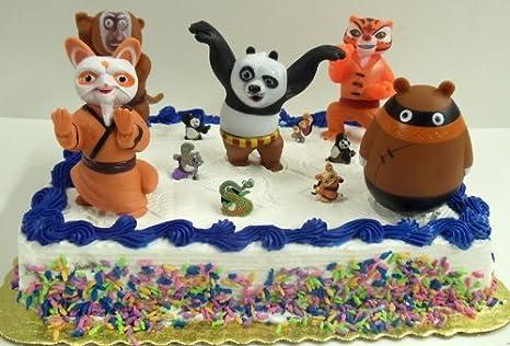 Phenomenal Kung Fu Panda 11 Piece Birthday Cake Topper Set Featuring Master Funny Birthday Cards Online Alyptdamsfinfo