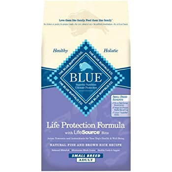 Blue life protection formula adult small breed for Blue buffalo fish and brown rice
