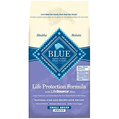 Blue Buffalo Dry Food For Small Breed Dogs, Natural Fish And Brown Rice Recipe, 15-Pound Bag