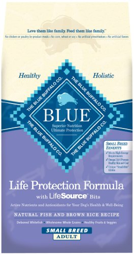 Blue Buffalo Dry Food for Small Breed Dogs, Natural Fish and Brown Rice Recipe, 6-Pound Bag (Buffalo Blue Small Bites)
