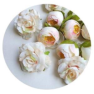 HuaHua-Store 14Pcs Artificial Silk Rose Flowers Heads Fake Camellia As DIY Craft Supplies of Wreath Wedding Decoration 25