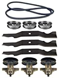 Yard-Man 50'' RZT-50 17AF2ACP001 Zero Turn Mower Deck Parts Rebuild Kit Spindle Assemblies Blades Belt Idler Pulleys