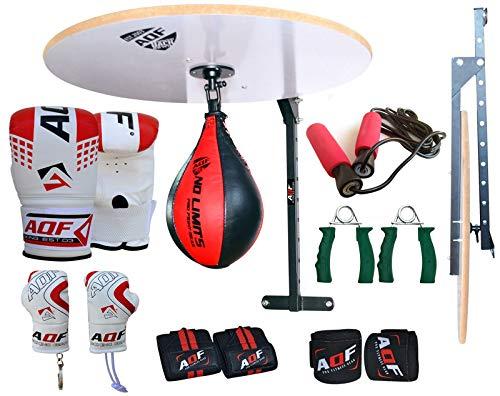 Adjustable Punching Workout Punching Stand Sporteq 13PC Boxing Speed Ball Platform Set