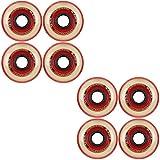 Labeda Millennium Gripper Red Roller Hockey Inline Wheels 72mm X-SOFT 8 Pack