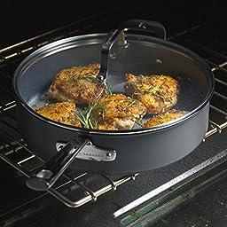 Emeril Lagasse 62927 Dishwasher safe Nonstick Hard Anodized Saucepan, 2-Quart ,Gray