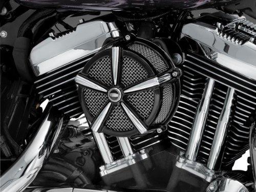 2006 Harley Davidson FXSTSI Springer Softail Hi-Five Mach 2 Air Cleaner - Black & Chrome, Manufacturer: Kuryakyn, HI FIVE MACH 2 AIR ()