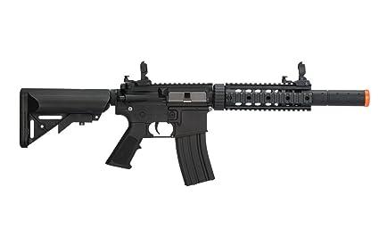 Amazon.com: AEG Airsoft negro M4 RIS CQB SD Assault Rifle ...