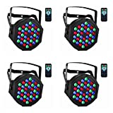 par can led lights - Par Lighting for Stage, 36x1W LED RGB 7 Channel with Remote for DJ KTV Disco Party (4 PCS)