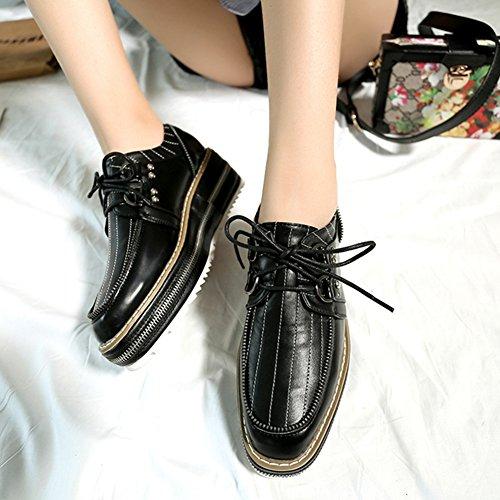 T-juli Damesmode Oxfords-schoenen - Comfortabele Lage Hak Bij Lage Hak Casual Schoenen Zwart