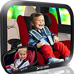 """An absolute must-have for parents!"", ""Easily beats other mirrors I've used!"" Cozy Greens Baby Car Mirror: To Support Those Eyes in the Back of Your Head Gone are the days of using the expression 'I have eyes in the back of my head!"" Whether ..."