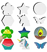 AUREUO White amp; Black Canvas Boards for Painting Set for Kids amp; Adults - 8 Inch 12 Pack (Unicorn, ...