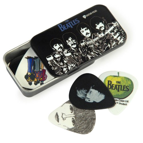 (Planet Waves Beatles Signature Guitar Pick Tins, Sgt. Peppers, 15 Picks)