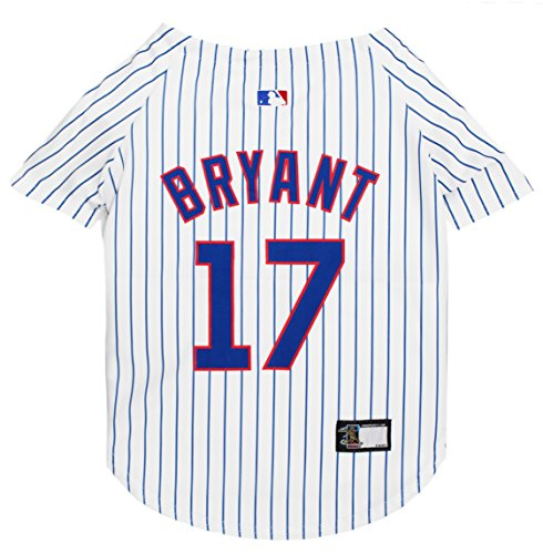 MLBPA Dog Jersey - Kris Bryant #17 Pet Jersey - MLB Chicago Cubs Mesh Jersey, Small