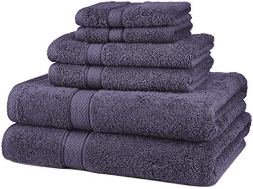 Pinzon 6 Piece Blended Egyptian Cotton Bath Towel Set - Plum