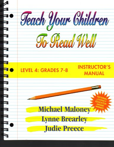 Teach Your Children to Read Well Level 4: Instructor's Manual