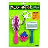 Ware Manufacturing, Kit de cuidado de pelo para mascota, incluye cepillo, cepillo de alambre, corta garras y goma para masticar