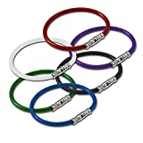 Lucky Line Twisty Key Ring, 5 Pack, Assorted Colors (8110005)