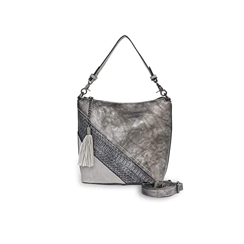49d85a8302 Mishuo sac bandouliere femme hobo sac à main tendance vintage rayure  serpent pompons sac college weekend (sac a main gris tendance): Amazon.fr:  Chaussures ...
