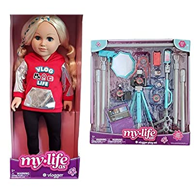 My life As Posable Vlogger Doll, Blonde, with Vlogger Accessory Kit: Toys & Games