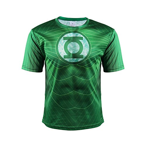 HOCOOL Men's Slim Sport Running Tee,Cool Lantern Fashion Crewneck T Shirt Green 3XL