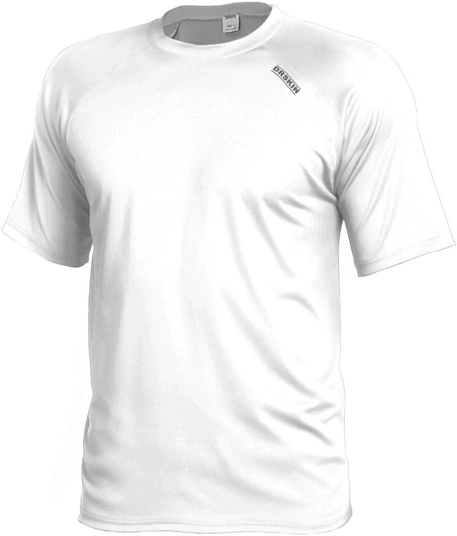 B0170ZWAOQ DRSKIN Men's Cool Quick Dry Sun Protection Short Sleeve Rash Guard Swim Sports Tee Shirt UPF 50+ 51asqx2LZiL