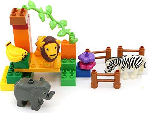 Little Treasures City Zoo Kit Building Brick Play Set - 26Pcs Compatible Toy Blocks