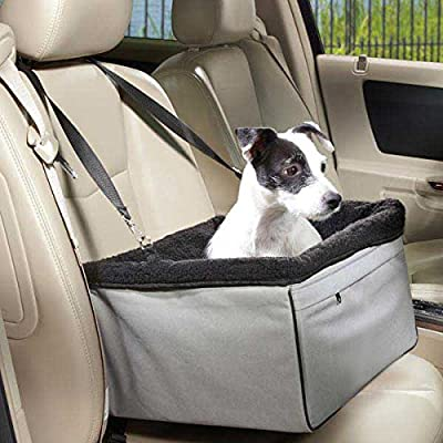 Dog Booster Seats for Cars, Jespet Portable Travel Pet Car Seat Carrier with Seat Belt for 15-24lbs Pets