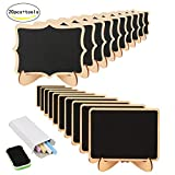 Mini Chalkboard,KAKOO 20 Pcs Blackboard With Stand for Party Wedding Table Number Message Board Signs.