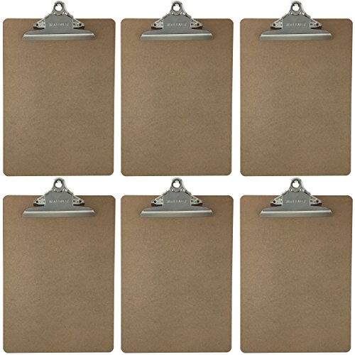 Letter Size Clipboard Standard Clip 9'' x 12.5'' Hardboard (Pack of (Hanging Clipboard)
