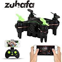 Zuhafa Z1HC Mini RC Drone Wifi RC Quadcopter Remote Control Drone with HD Camera RC Helicopter AltitudeHold black Toys Gift for Kids