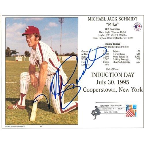 Mike Schmidt Autographed Philadelphia Phillies 8x10 Photo - JSA