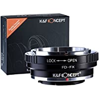 K&F Concept Lens Mount Adapter, Canon FD Lens to Fujifilm FX Mount Camera Adapter