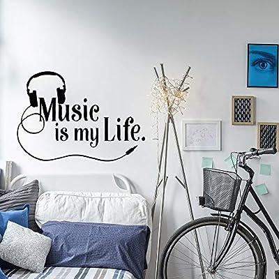 zzlfn3lv Musical Tatuajes de Pared La música es mi Vida Tatuajes ...