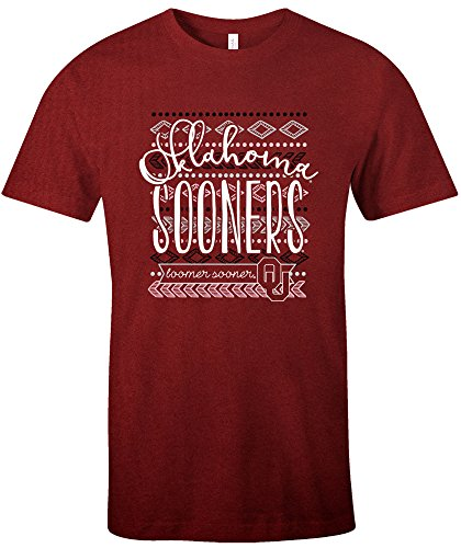 - NCAA Oklahoma Sooners Women's Pattern Lines Favorite Short sleeve T-Shirt, X-Large,Cardinal