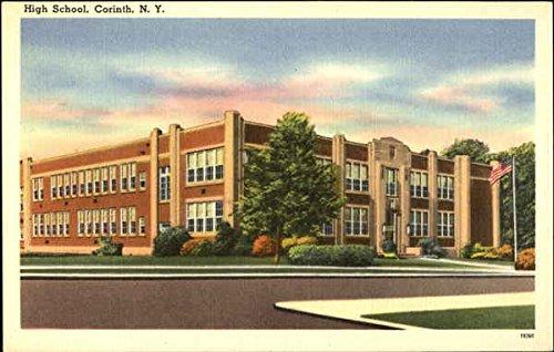 High School Corinth, New York Original Vintage Postcard by CardCow Vintage Postcards