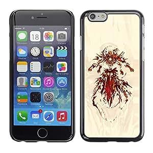 LECELL--Funda protectora / Cubierta / Piel For Apple Iphone 6 Plus 5.5 -- Superhero Hierro --